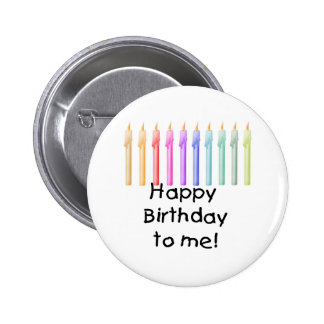 Candles Happy Birthday Button