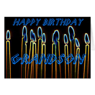 Candles Happy Birthday Grandson Card