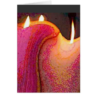 candles in the attic greeting card