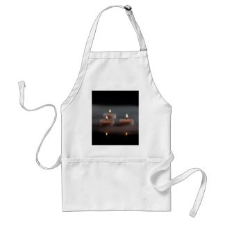 Candles in the mist adult apron