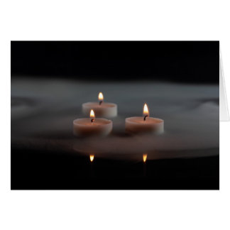 Candles in the mist card