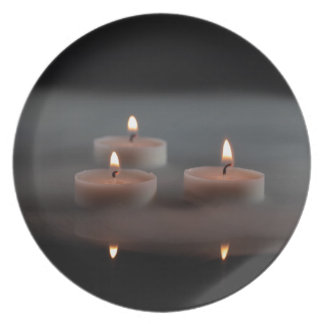 Candles in the mist dinner plate