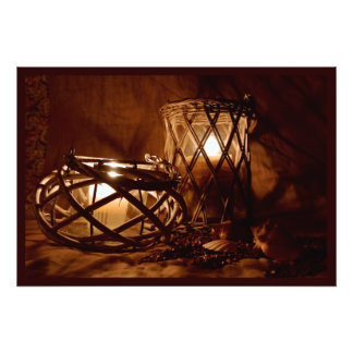 Candles in the Night Photographic Print