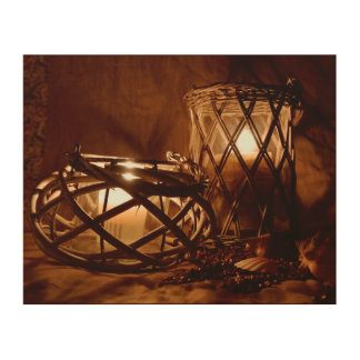 Candles in the Night Wood Wall Art
