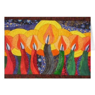 Candles In The Wind Kwanzaa Holiday Greeting Cards