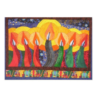 Candles In The Wind Kwanzaa Holiday Party Invites