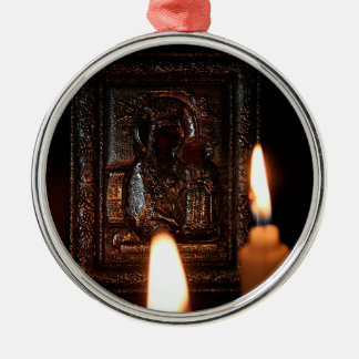 CANDLES OF HOPE METAL ORNAMENT