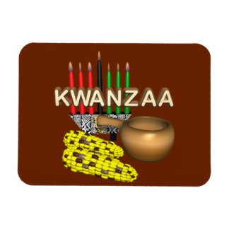 Candles of Kwanzaa - Magnet