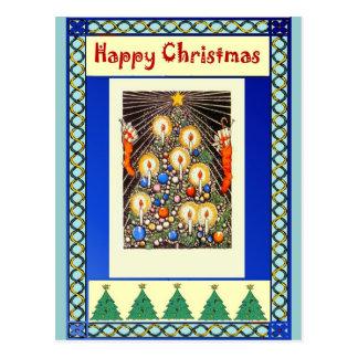 Candles on a Christmas tree Postcard