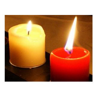 Candles Photo Postcard - Flames