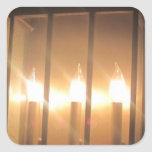 CANDLES SQUARE STICKERS