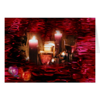 Candles & Wine Card