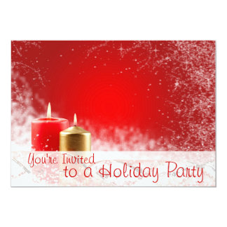 Candles, You're Invited, to a Holiday Party Card
