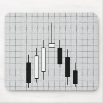 Candlestick, Forex Mouse Pad