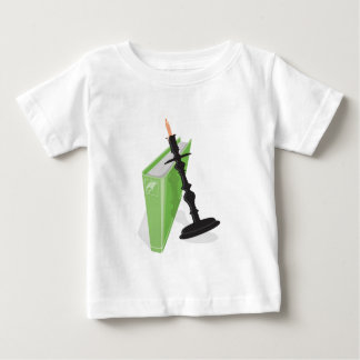 Candlestick holder and a green book baby T-Shirt
