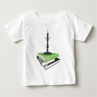 Candlestick holder on books baby T-Shirt