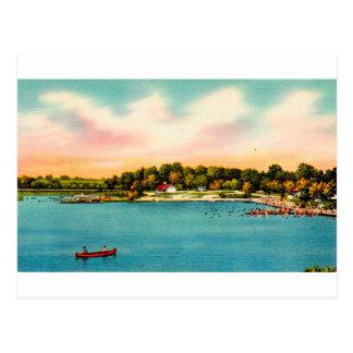 Candlewood Lake Bathing beaches Danbury, Conn Postcard