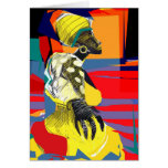 Candombe dancer greeting card