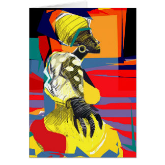 Candombe dancer greeting card