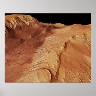Candor Chasma_Valles Marineris canyon system /Mars Poster