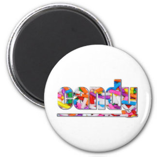 CANDY 2 INCH ROUND MAGNET