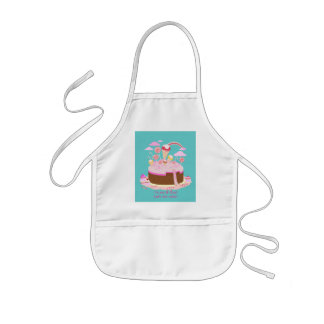 Candy and chocolate cake for birthday party kids' apron