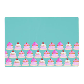 Candy and chocolate cake for birthday party placemat