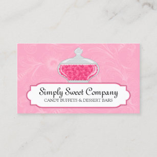Candy bar business cards templates zazzle candy and dessert buffet business card colourmoves