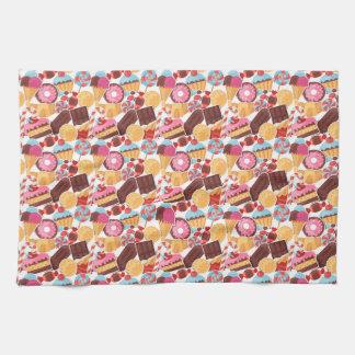 Candy and Pastries Palooza Seamless Pattern Towel