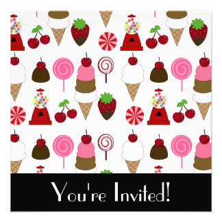 Candy And Sweets Invitation