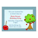 Candy Apple Birthday Invitation