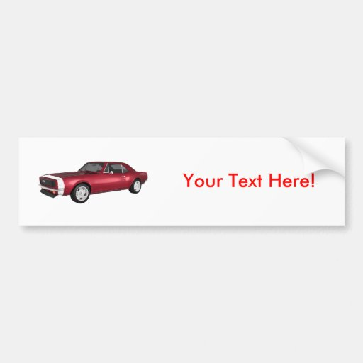 Candy Apple Camaro SS: 3D Model: Bumper Sticker