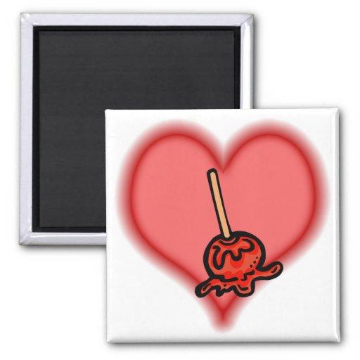 candy apple fridge magnet