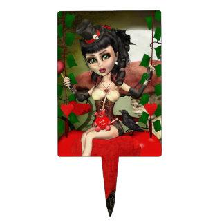 Candy Apple Love Gothic Lolita Cake Pick