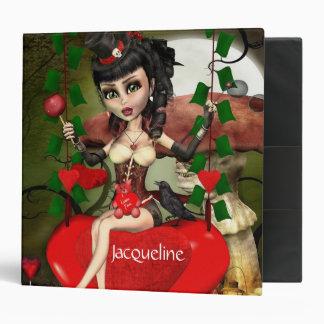 Candy Apple Love Gothic Lolita Custom Binder