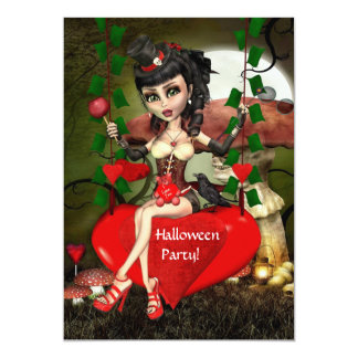 Candy Apple Love Halloween Party Invitation