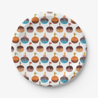 Candy Apple Paper Plate