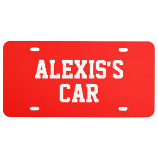 Candy Apple Red Add Name License Plate