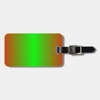 Candy Apple Red and Lime Gradient Luggage Tags