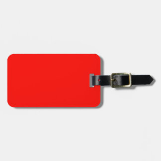 Candy Apple Red Background Tag For Bags