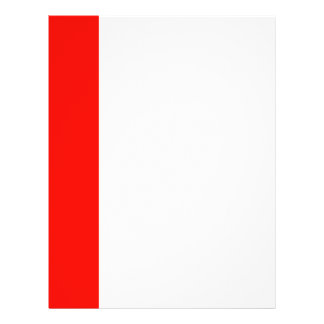 Candy Apple Red Border Flyers