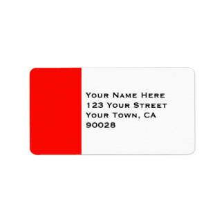 Candy Apple Red Border Label