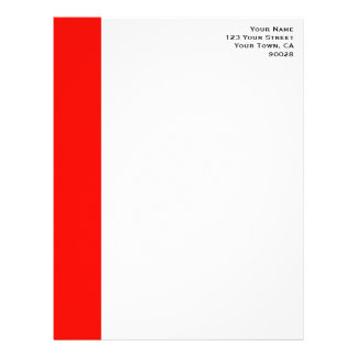 Candy Apple Red Border Letterhead