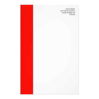 Candy Apple Red Border Stationery