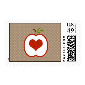 Candy Apple Red & Brown Postage