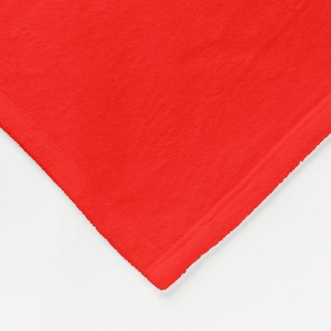 Candy Apple Red Fleece Blanket