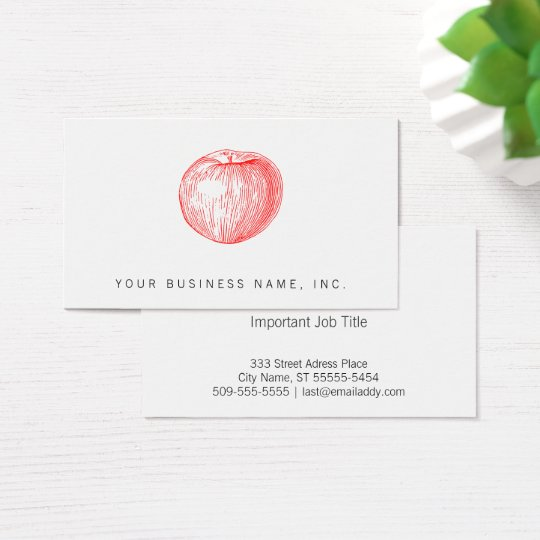 Candy apple red letterpress apple business card zazzle candy apple red letterpress apple business card colourmoves