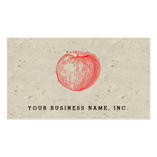 Candy Apple Red Letterpress Apple Double-Sided Standard Business Cards (Pack Of 100)