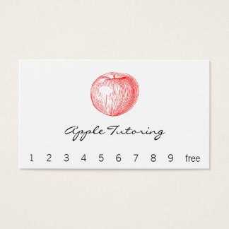 Candy Apple Red Letterpress Apple Business Card