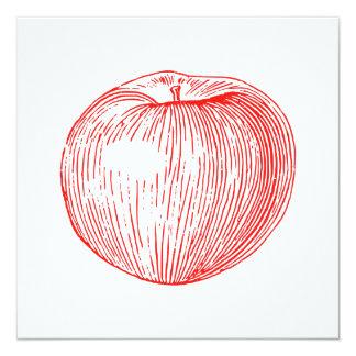 Candy Apple Red Letterpress Apple Card